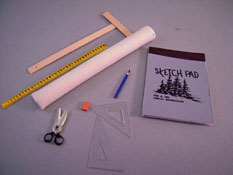 "1"" Scale Hand Crafted Nine Piece Art Supply Set"