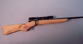 "1"" Scale Miniature Hand Crafted 30/06 Springfield Rifle"
