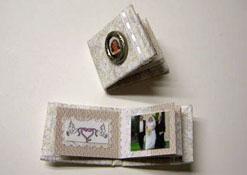 "1"" Scale Hand Crafted Wedding Album/Scrapbook"