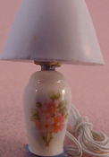"1/2"" Scale Ni Glo Primose Pattern Ginger Jar Table Lamp"