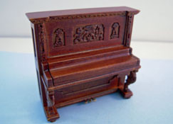 "Mountain Miniatures 1/2"" Scale Walnut 1905 Schumann Upright Piano"