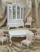 Majestic Mansions Six Piece Hand Painted Antoine Dining Room Set 1:12
