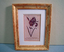 "McBay Miniatures 1"" Scale Purple Flower Framed Print"