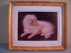 "McBay Miniatures 1"" Scale Darling Dog Framed Print"