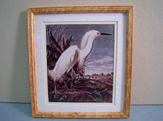 "McBay Miniatures 1"" Scale Beautiful Heron Framed Print"