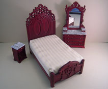 """Platinum Collection 1"""" Scale Lincoln Mahogany Three Piece Reproduction Bedroom Set"""
