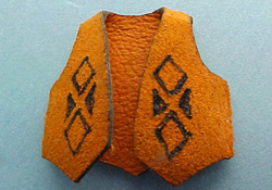 "Prestige Leather 1/2"" Scale Miniature Cowboy Vest"