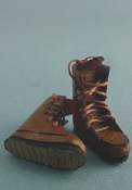 "Prestige Leather 1/2"" Scale Miniature Work Boots"