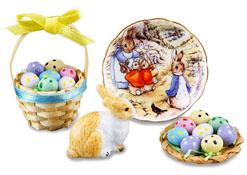 Reutter Porcelain Deluxe Peter Rabbit Easter Set 1:12
