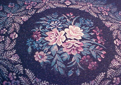 Mc Bay Miniatures Black Rose Round Carpet