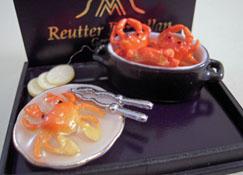 """1"""" Scale Reutter Porcelain Crab Pot Set"""