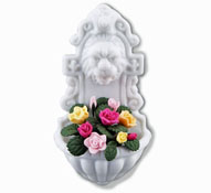 Gorgeous Reutter Porcelain Garden Wall Fountain with Roses 1:12