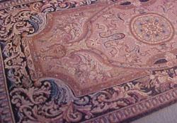 "1/2"" Scale Mauve Filagree Carpet"