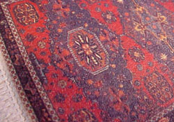 "1/2"" Scale Red Medallion Carpet"