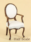 "Bespaq 1/2"" Scale Walnut ""Miss Lydia's Tea Room"" Arm Chair"