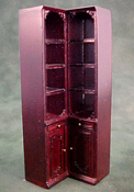 "Bespaq 1/2"" Scale Mahogany Emporium Corner Shelves"