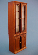 "Bespaq 1/2"" Scale Walnut Emporium Double Display Case"