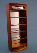 "Bespaq 1/2"" Scale Walnut Emporium Curved Open Shelf"