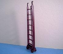 "Bespaq 1/2"" Scale Miniature Mahogany Emporium Ladder"