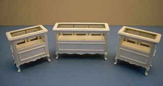 "1/2"" Scale Bespaq Three Piece Shoppe Display Case Set"