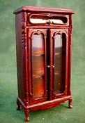 "Bespaq 1/2"" Scale Mahogany Haverson Vitrine Display"