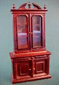 "Bespaq 1/2"" Scale Mahogany Chestney Library Bookcase"