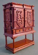 "John Baker 1/2"" Scale Walnut Treasure Chest"