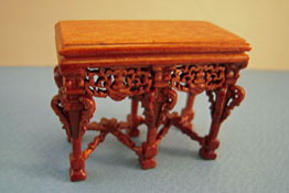 "1/2"" Scale Miniature Bespaq Walnut Grand Estate Console"