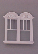 "Majestic Mansions 1"" Scale Miniature Newport Decorated Double Window"