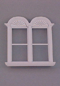 "Majestic Mansions 1"" Scale Miniature Newport Plain Double Window"