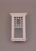 "Majestic Mansions 1"" Scale Miniature Atherton Decorated Single Window"
