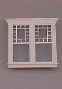 "Majestic Mansions 1"" Scale Miniature Atherton Decorated Double Window"