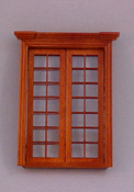 "Majestic Mansions 1"" Scale Miniature Walnut Classic French Door"
