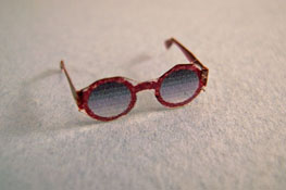 "Alice Zinn 1"" Scale Hand Crafted Large Round Sun Glasses"