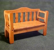 "Townsquare 1/2"" Scale Pecan Patio Bench"