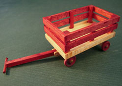"""1"""" Scale Olde Time Wooden Wagon"""