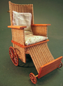 "Tates' Collectables 1"" Scale Hand Crafted Wicker Wheel Chair"