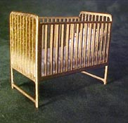 Teresa's Miniature Creations Hand Crafted Gold Crib