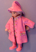 "1"" Scale Rainy Dayz Kid in Pink"