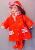 "1"" Scale Rainy Dayz Kid in Red"