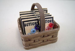 "1"" Scale Taylor Jade Hand Crafted Filled Button Basket"