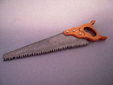 "Sir Thomas Thumb 1"" Scale Miniature Rip Saw"