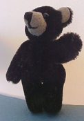 "World Of Miniature Bears 1"" Scale Little Classic Black Teddy Bear"