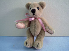 "World Of Miniature Bears 1"" Scale Classic Tan Teddy Bear"