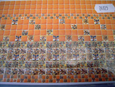 "1/2"" Scale World Model Fiesta Faux Wall Tile"