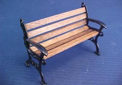 "Island Crafts 1/2"" Scale Metal Garden Bench"