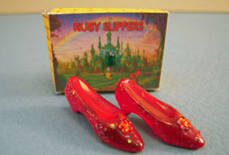 "Alice Zinn 1"" Scale Hand Crafted Ruby Slippers"