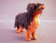 "Alice Zinn 1/2"" Scale Hand Crafted Bernese Mountain Dog"